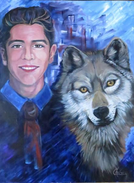 Je suis celui qui enseigne, 24 x 18 po, acrylique sur toile
