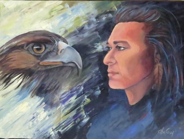 Je suis le courage et la vérité, 18 x 24 po, acrylique sur toile