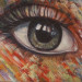 Oeil sur vous, acrylique sur toile, 16 x 20 pouces thumbnail