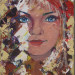 Portrait d'humanité 1, enfant du monde, acrylique sur toile, 16x8 pouces thumbnail