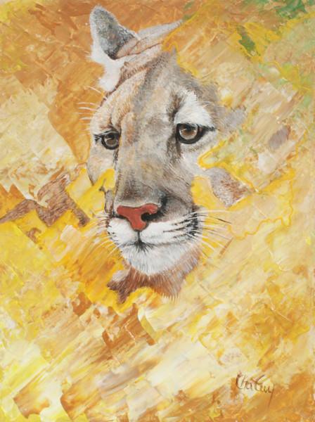 Puma, acrylique, 16 x 12