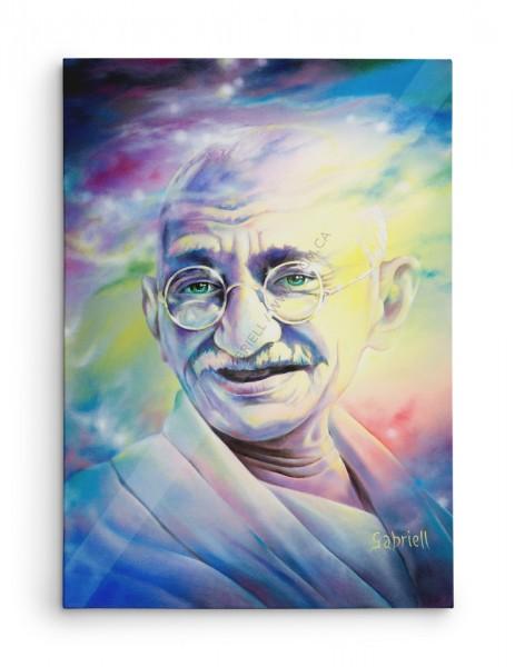 Gandhi, acrylique et huile, 28x22
