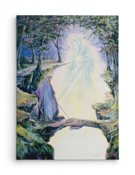 La Voie du Coeur / Coming from the Heart / Der Weg des Herzens / El Camino del Corazón - huile 40x30