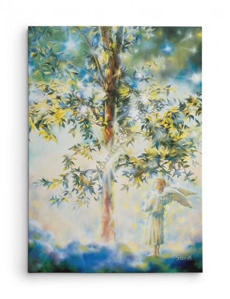 L'arbre Mystique / Mystical Tree / Der Mystische Gaum / El Arbol Místico - huile 40x30