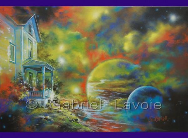 Atmosphère, acrylique et huile sur canevas, 16x24