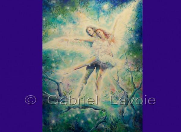 Déploie tes ailes,  acrylique et huile sur canevas, 48x36