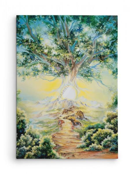 L'arbre Céleste / Celestial Tree / Der Himmlische Baum / Arbol Ceste - huile 40x30