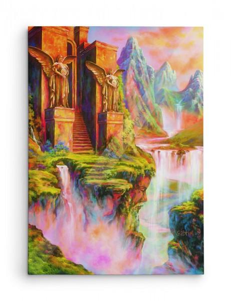Le temple sacré / The Sacred Temple / Der Heilige Tempel / El Templo Sagrado - Acrylique et huile  40x30