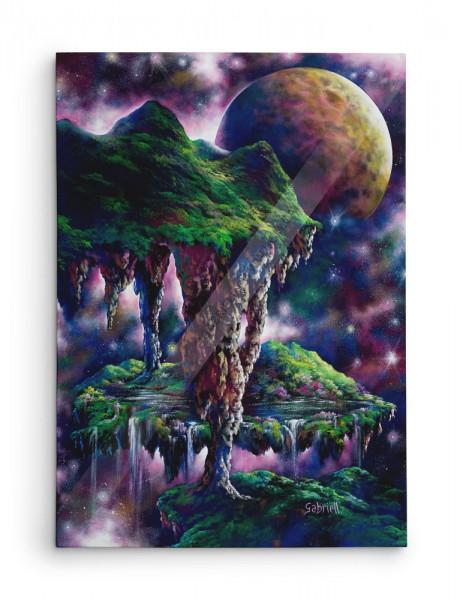 Un Monde dans l'infini / A World Reaching into Infinity / Eine Welt, die ins Unendliche reicht / Un mundo hacia el infinito - Acrylique et huile  40x30