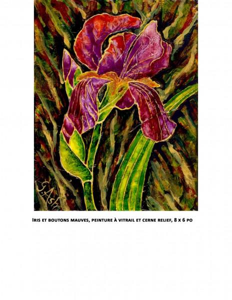 Iris et boutons mauves copie
