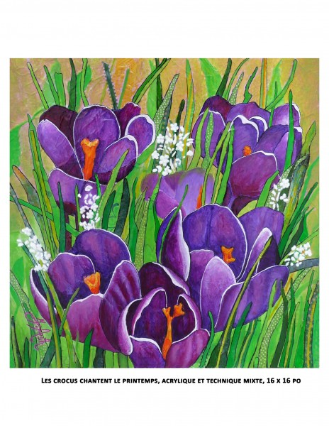 Les crocus chantent le printemps