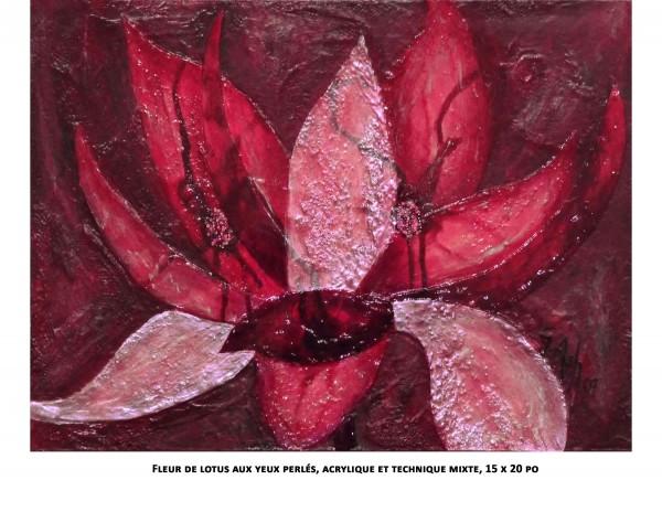 Fleur de lotus aux yeux perlés