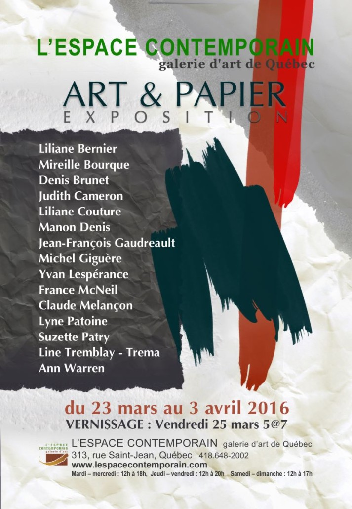 Invitation, Art et papier(1)