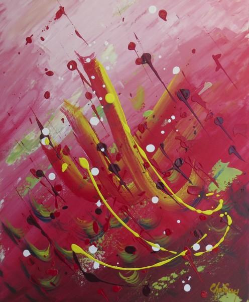 Ascension I, acrylique sur toile, 20 x 16 pouces