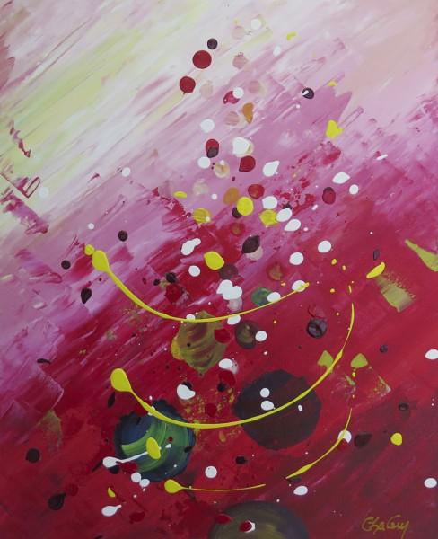 Ascension II, acrylique sur toile, 20 x 16 pouces