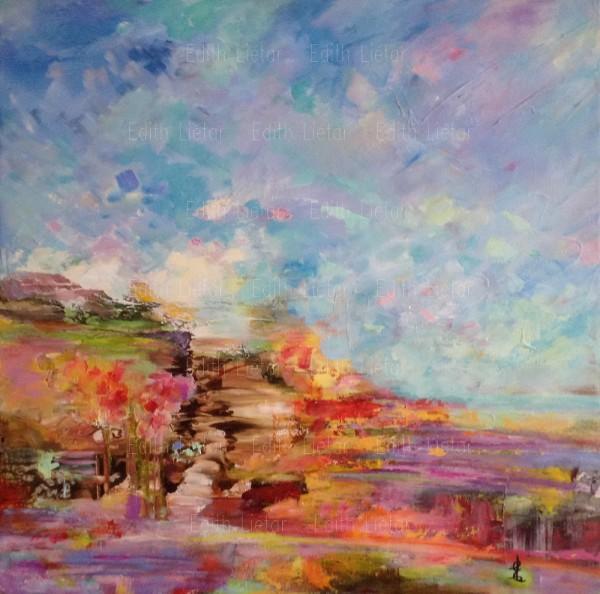 L'appel du printemps - 24x24 acrylique sur toile