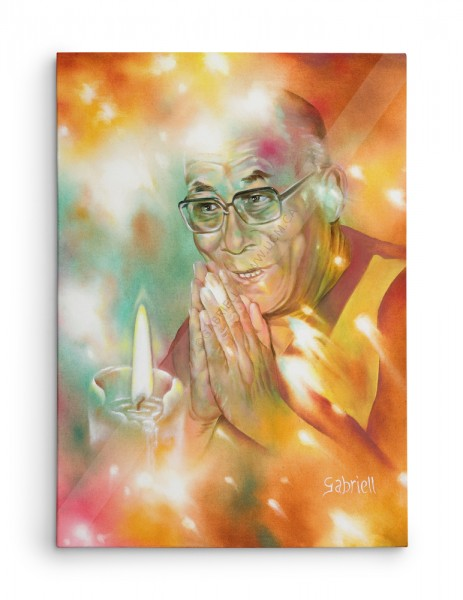 Dalai-Lama - Acrylique et huile sur toile - 20