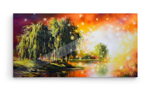 VENDUE - Un endroit paisible - Huile sur toile - 30