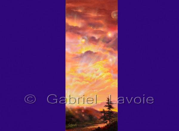 Ciel d'automne - Huile et acrylique sur toile - 30