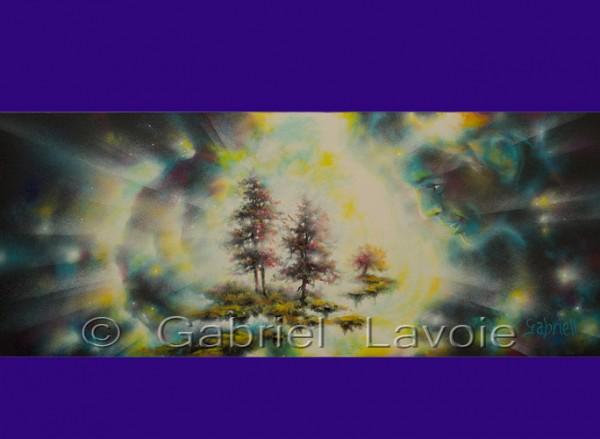 Contemplation - Huile et acrylique sur toile - 12