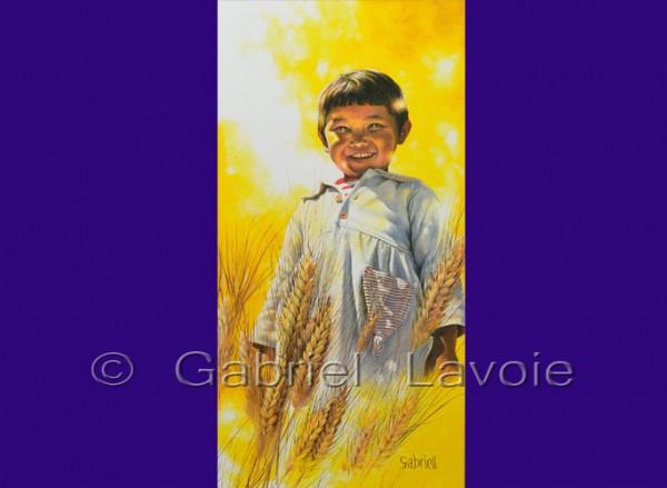 Gratitude, acrylique et huile sur canevas, 15x30