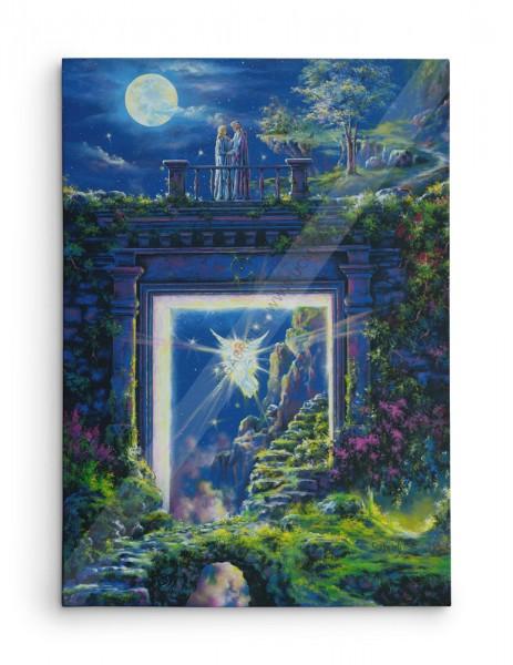 Mariage Céleste (MIHAEL) / The Heavenly Merging (MIHAEL) / Himmlische Hochzeit / Matrimonio celestial - Acrylique et huile - 40x30