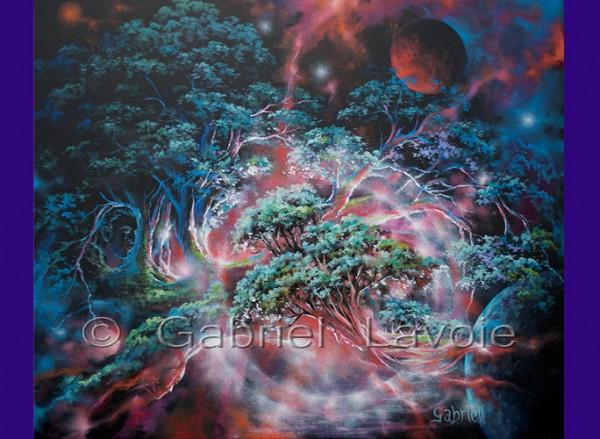 Nature en poésie - Huile sur toile - 20