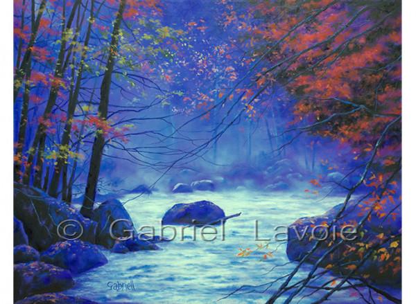 rivière mystique - Huile sur toile - 22
