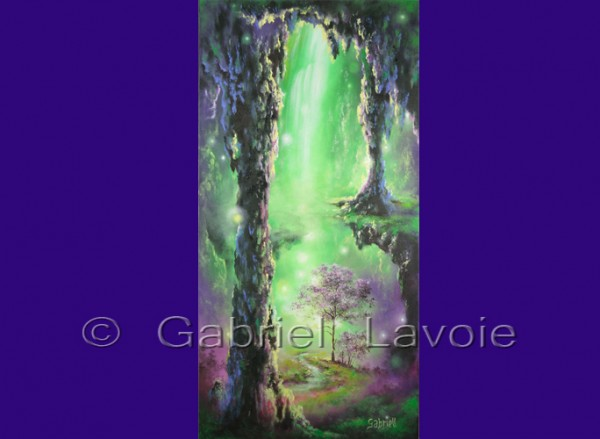 Vert... la guérison - Acrylique et huile sur toile - 15