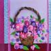 La corbeille de fleurs en 3D - pâte Fimo thumbnail