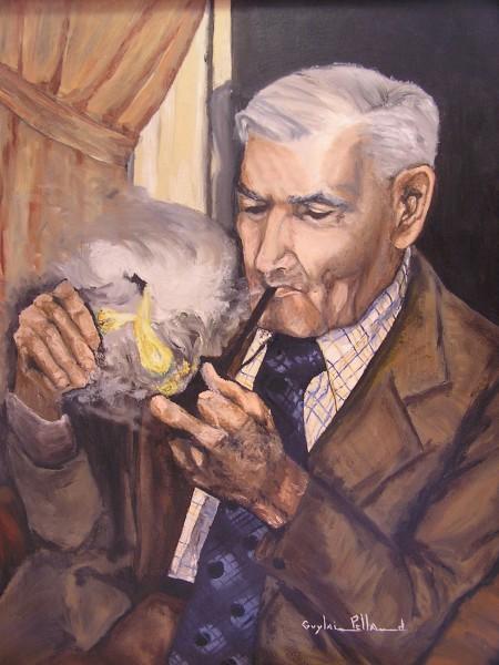 Alphonse Pelland, huile sur toile, autour de 1984