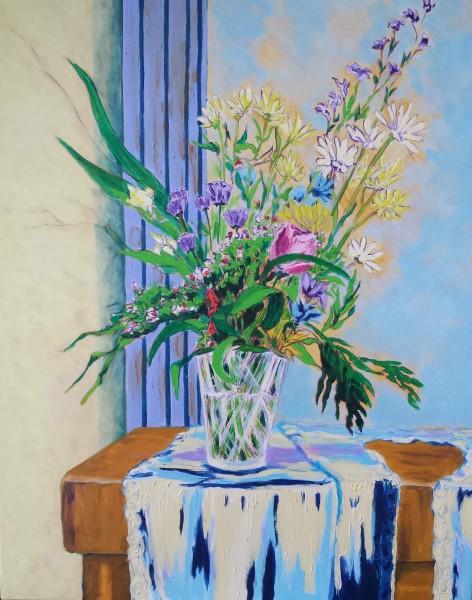 Bouquet Sylvie, huile sur toile