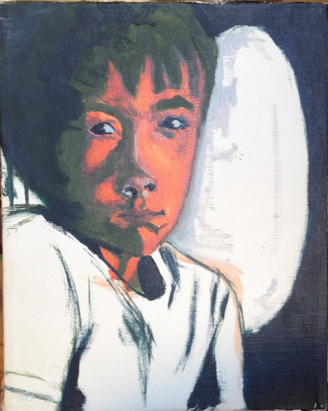 Francois - huile sur toile, 8 x 10 pouces (20 cm x 25 cm), 1983-1984