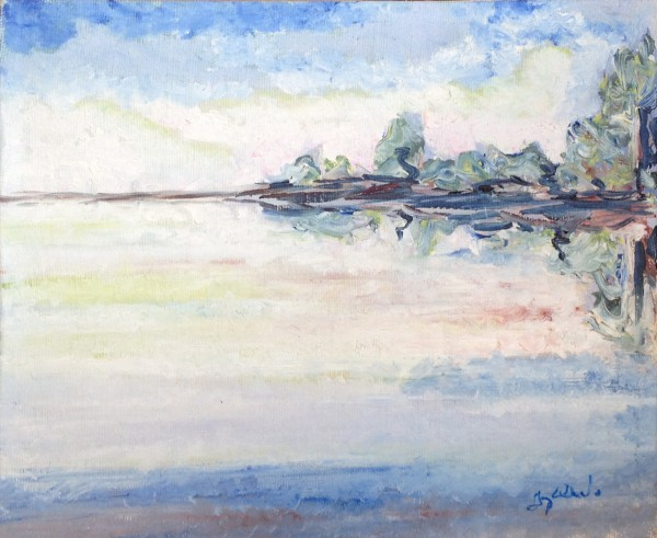 Saipa - huile sur toile, 8 x 10 pouces (20 cm x 25 cm), 1983-1984
