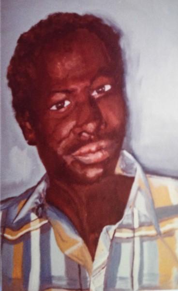 Coco Traoré - huile sur toile, 1984