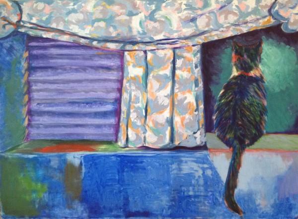 Marylinn de ma fenêtre à Ottawa - huile sur toile, 30 x 40 pouces (76.2 cm x 101.60 cm), 1992