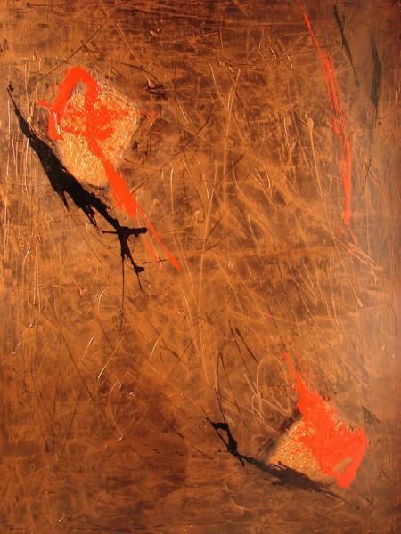 Série Bronzaï - Métallurgisme artistique - techniques mixtes, 48 x 36 pouces