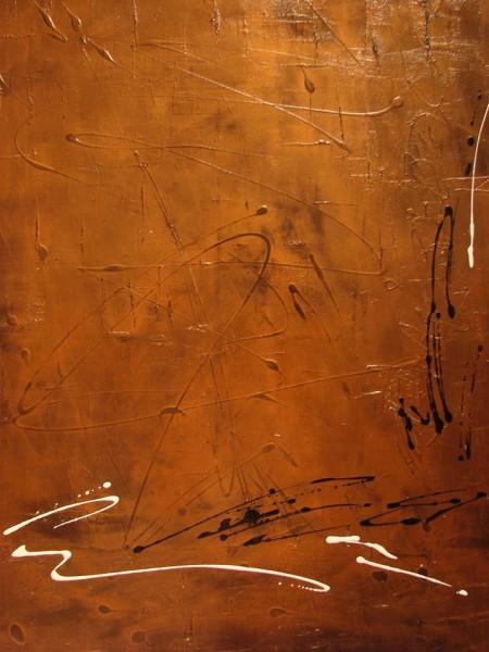 Série Bronzaï - Métallurgisme artistique - techniques mixtes, 30 x 40 pouces