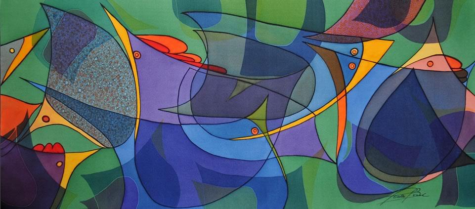 Peinture de Paule Bossé (sur soie)