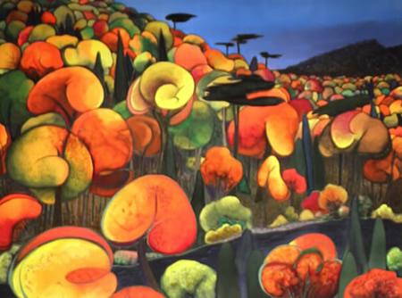 Peinture (sur soie) de Paule Bossé